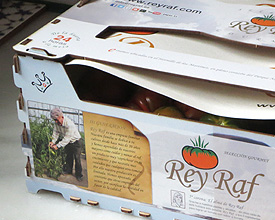 Tomatoes container packaging Rey Raf
