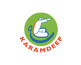 Logotipo Studio de yoga KARAMDEEP